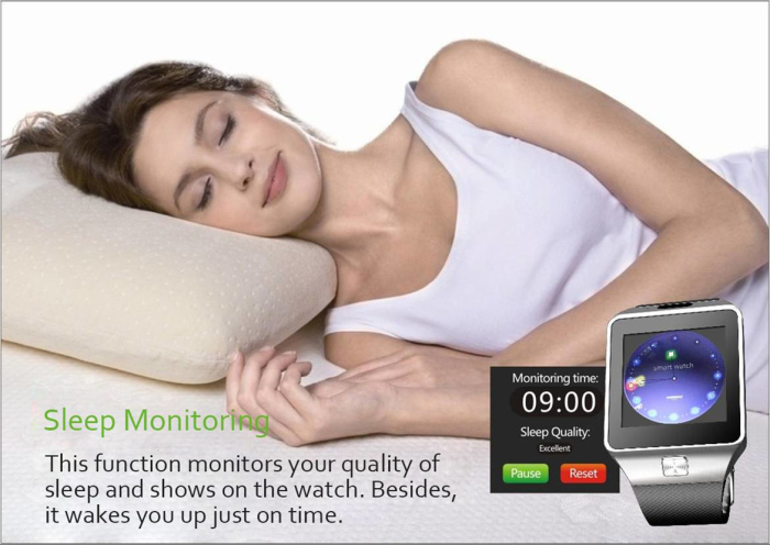 DZ09D Smartwatch Phone MTK6261 Bluetooth Sleep Monitor Pedometer Camera Single SIM