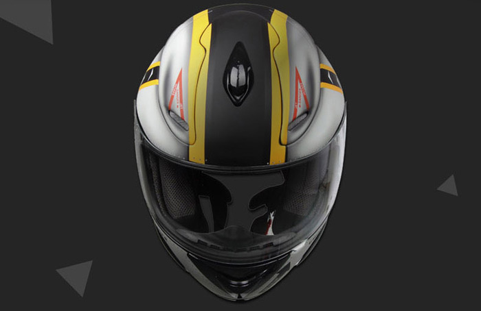 Original GDG 802 Men Motorcycle Full Face Helmet Anti-Dazzle Visor / DOT Standard / Ventilation System / Injection ABS Shell