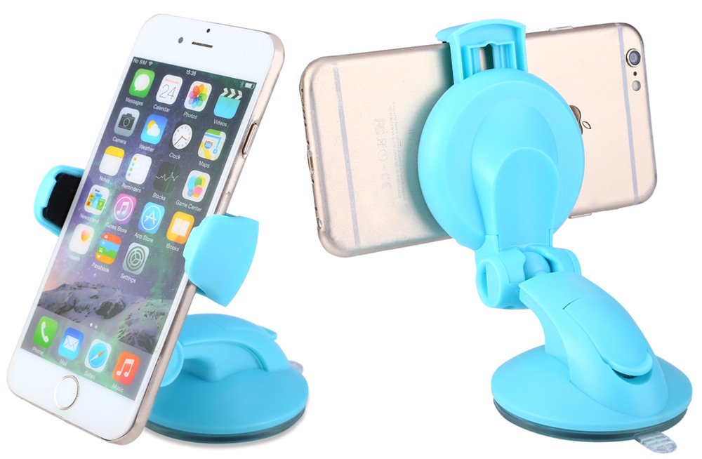 Universal Practical Adjustable Car Holder for Mobile Phones with Suction Cup Rotatable