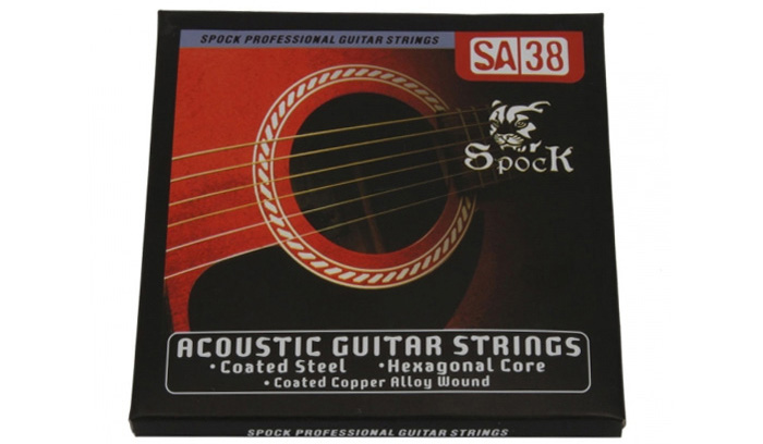 6Pcs Spock SA38 Copper Acoustic Guitar String Instrument Accessory