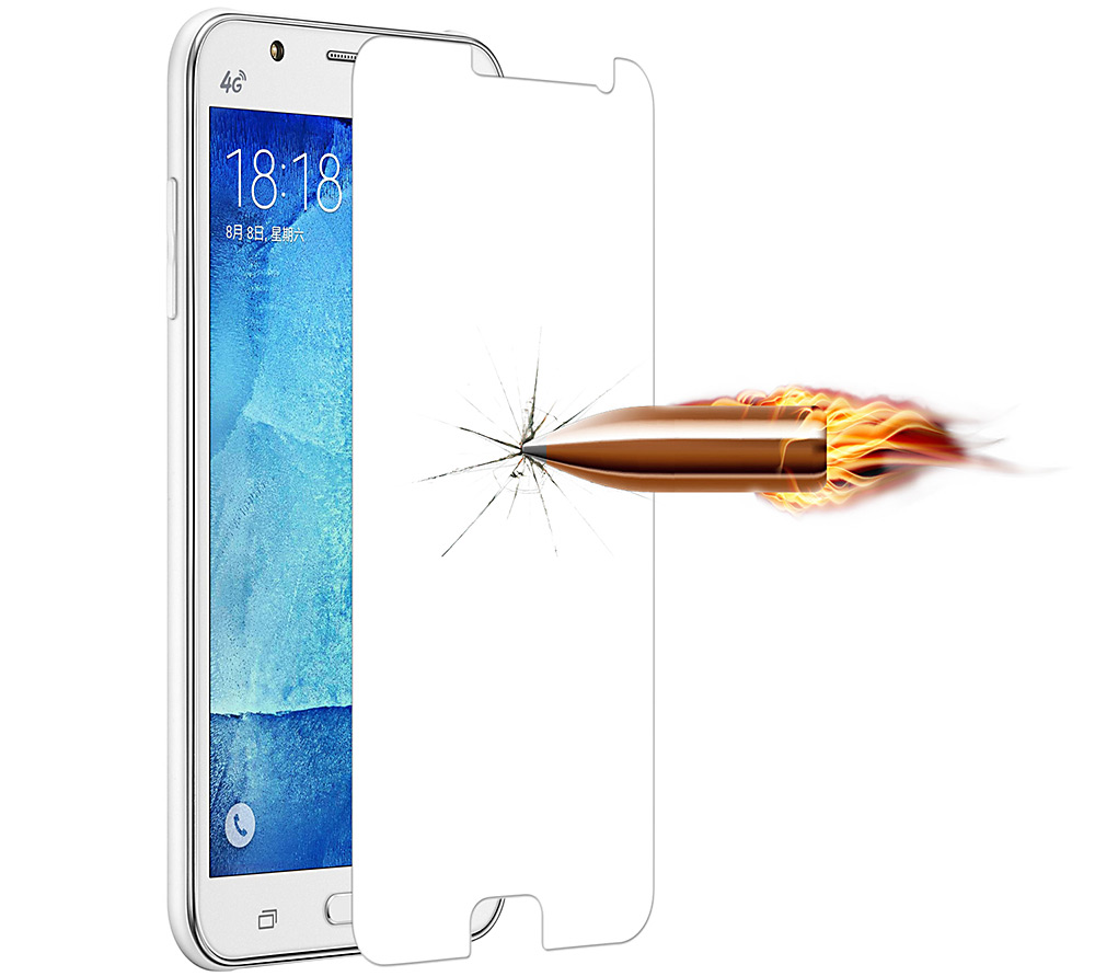 Angibabe 0.3mm 2.5D Tempered Glass Screen Film for Samsung Galaxy J7 Anti-shatter Mirror