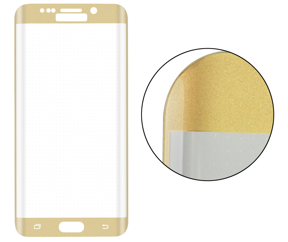 Angibabe 0.2mm Arc Full Screen Tempered Glass Screen Film for Samsung Galaxy S6 Edge G9250