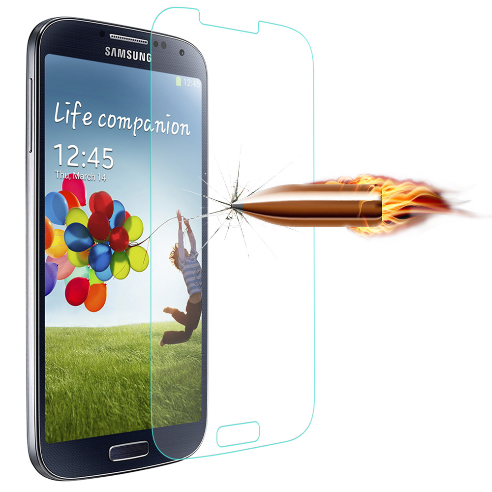 Angibabe 0.18mm Ultra-thin Tempered Glass Screen Film for Samsung Galaxy S4 2.5D Arc Anti-shatter