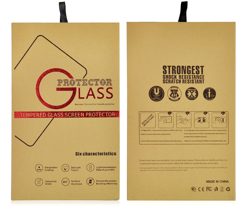 Angibabe 0.3mm Tempered Glass Screen Film for Samsung Galaxy Note4 Screen Printing Process Full Screen