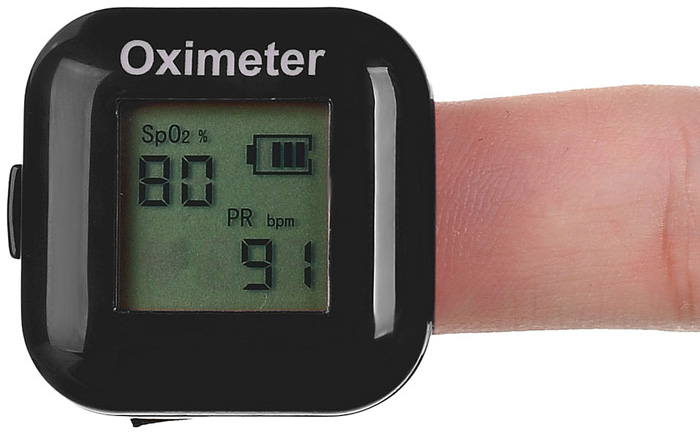 Fingertip Pulse Oximeter Portable Cardiotachometer with Adjustable Elastic Band