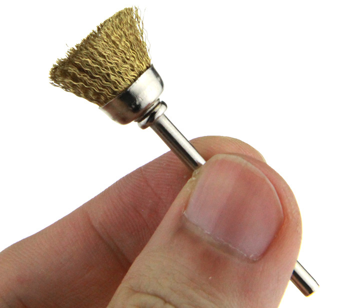 10PCS Bowl Shaped Mini Rotary Polishing Copper Wire Brush with Handle