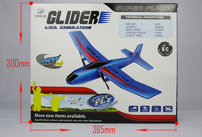 Flybear FX - 802 2.4G 2CH EPP Professional Glider Front-pull Double Propeller Ready-to-fly