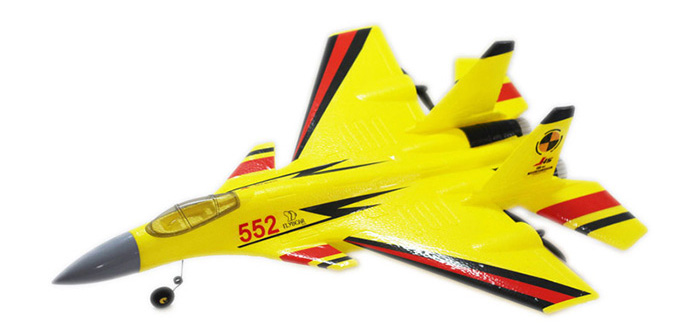 Flybear FX - 861 2.4G 2CH EPP Glider J15 Full-scale Push-back Double Propeller with Light Ready-to-fly