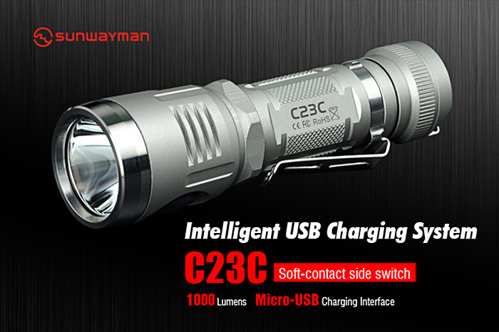 Sunwayman C23C CREE XM - L2 U3 1000Lm EDC LED Flashlight