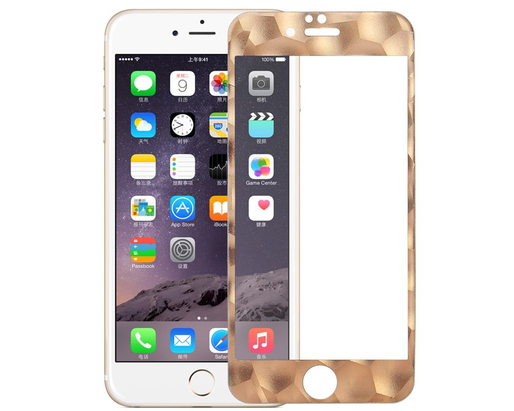 Angibabe 0.3mm Tempered Glass Protector Film for iPhone 6 Plus / 6S Plus Water Cube Frame Full Screen