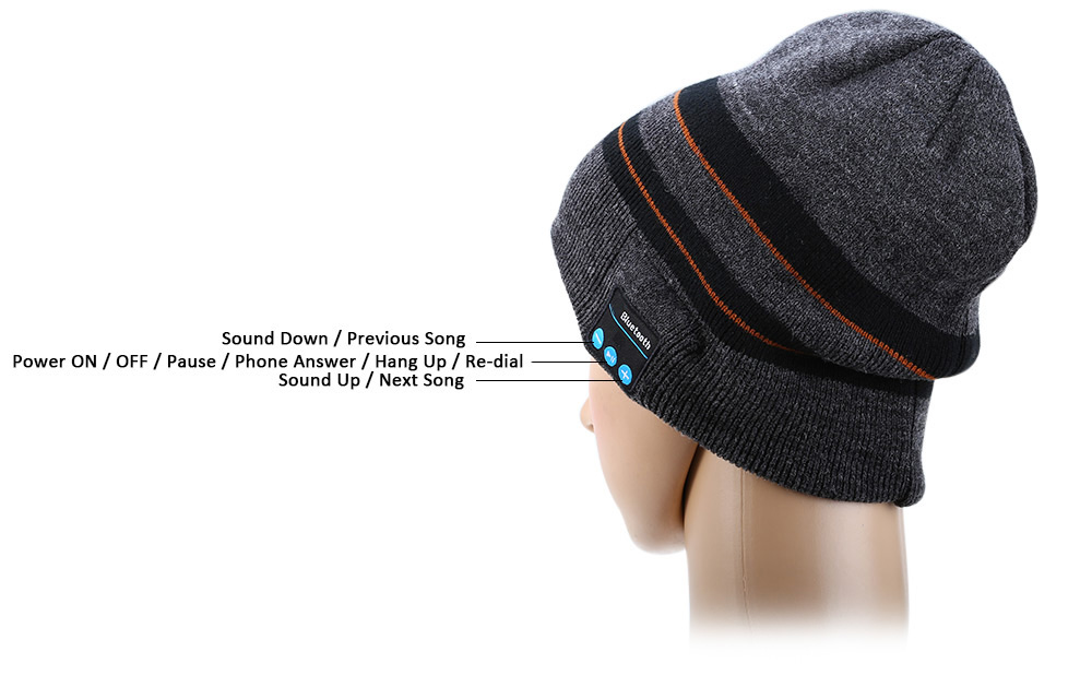 3-in-1 Bluetooth V3.0 + EDR Stereo Headphones Knitted Hat with Wool Gloves Microphone Handsfree Calls