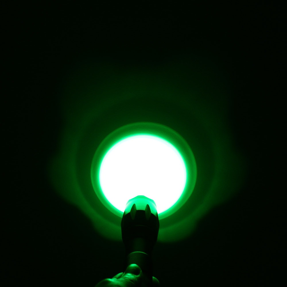 UltraFire A100 Cree Q5 517 - 525nm 5 Modes 18650 AAA Green Light Water Resistant LED Flashlight