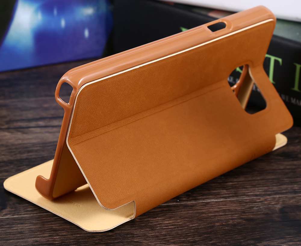 Baseus Smart Window View Leather Flip Case Cover for Samsung Galaxy Note 5
