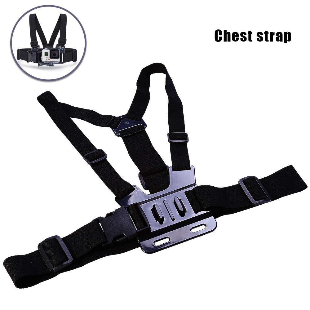 5-in-1 Action Camera Accessories Kit Chest strap / Head strap / Wrist strap / WiFi remote wrist strap / Storage bag