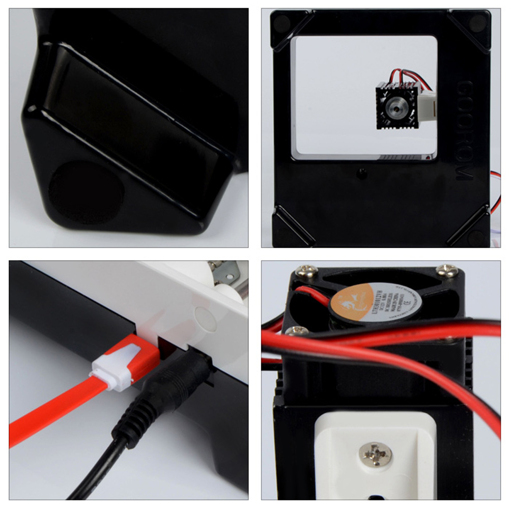 1600mw Mini Laser Engraving Machine DIY Set Weak Light Automatic Positioning