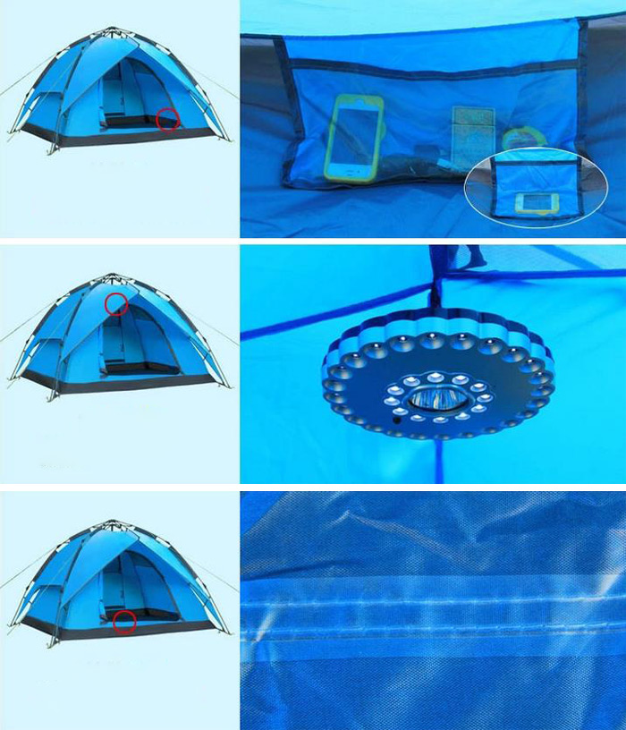 Outdoor Double Layer Automatic Camping Tent with Large Capacity
