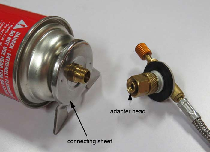 AOTU Gas Tank Adapter Copper Alloy + Stainless Steel Made
