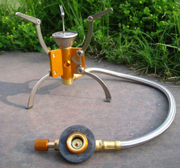 AOTU Folding Wind Stove Head Stainless Steel + Aluminum Alloy Made