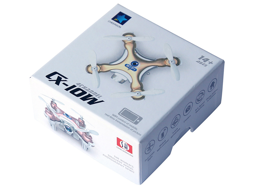 Cheerson CX - 10W Mini Mobile Control Flying 0.3MP Camera 2.4G 4CH 6 Axis RC Quadcopter