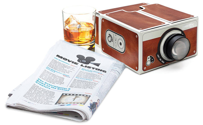 Portable DIY Cardboard Smart Phone Projector Cinema Mini Projector Toy Gift