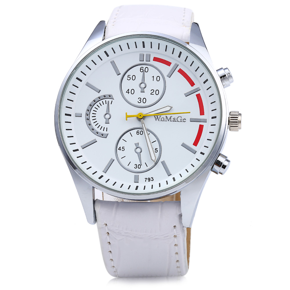 Womage 793 Decorative Sub-dial Men Quartz Watch