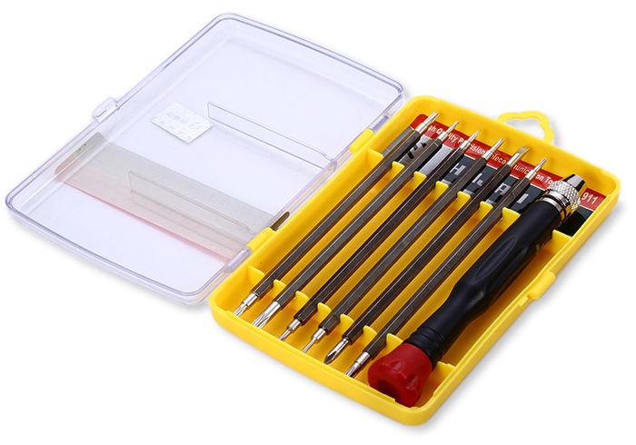 HUIJIAQI NO.8911 7 in 1 Precision Screwdriver Set Repairing Tool