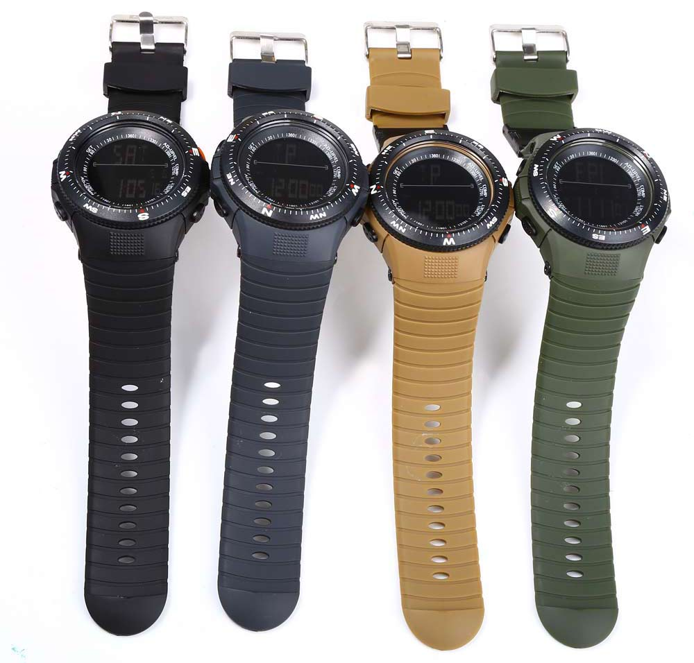 Skmei Fashion Watch LED Light Display with Round Dial Digital Display and Rubber Watchband