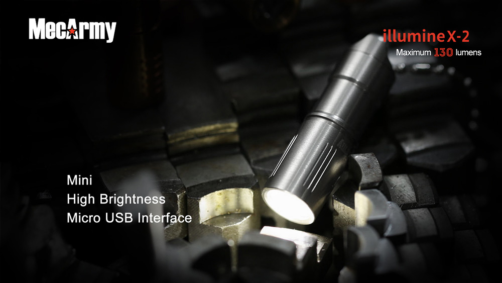 MecArmy illumineX - 2 Ss Cree XP - G2 130Lm Rechargeable LED Flashlight