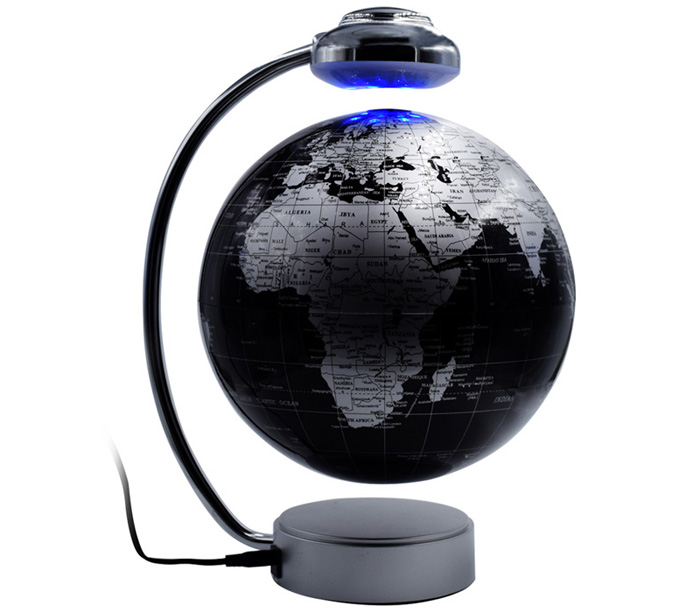 Creative Magnetic Levitation Floating Globe World Map Rotating Display Showcase Decoration