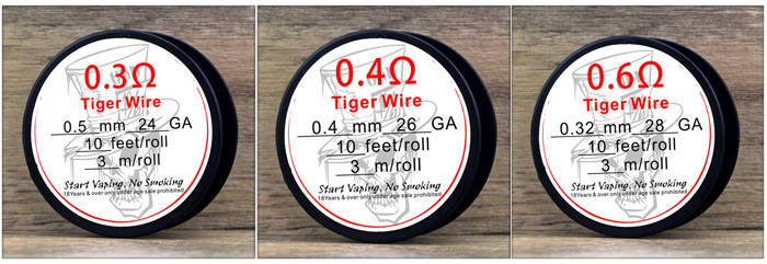 Authentic Advken Tiger Wire Ferrochrome A1 Resistance Wire with 3m Per Roll