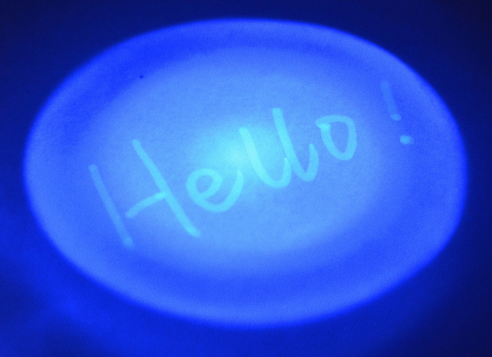 Invisible Ink Pen Revealing with Blue LED