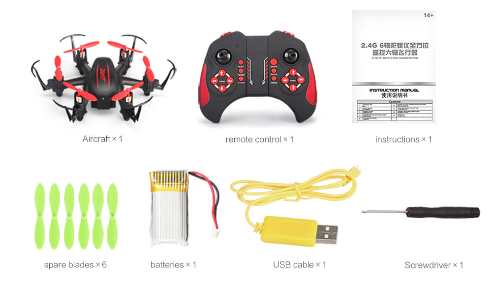 JJRC H20C Mini 2.4G 6 Axis Gyro 4CH 2.0MP Camera RC Hexacopter Headless Mode