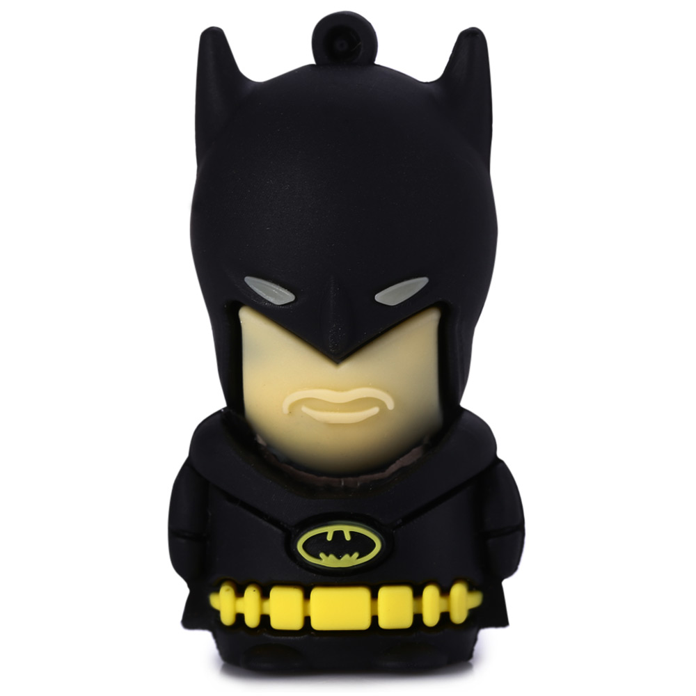 16GB All-black Batman USB 2.0 Flash Disk Dust-proof