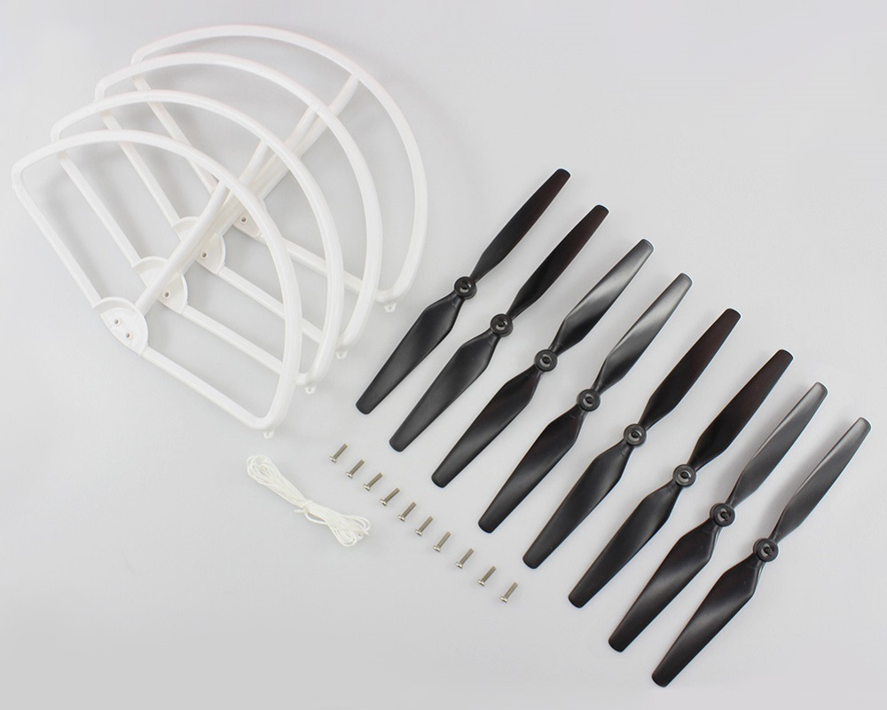 8 x Propeller + 4 x Protection Ring Set Accessory for XK X350 Quadcopter