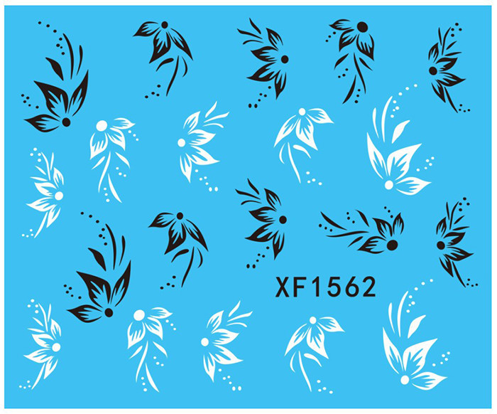 XF Lovely Fashion Water Transfer Printing Nail Sticker