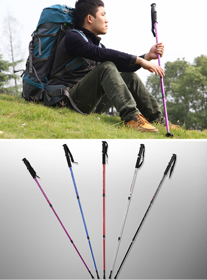 AOTU Three Sections Alpenstock 7075 Aluminum Alloy Made
