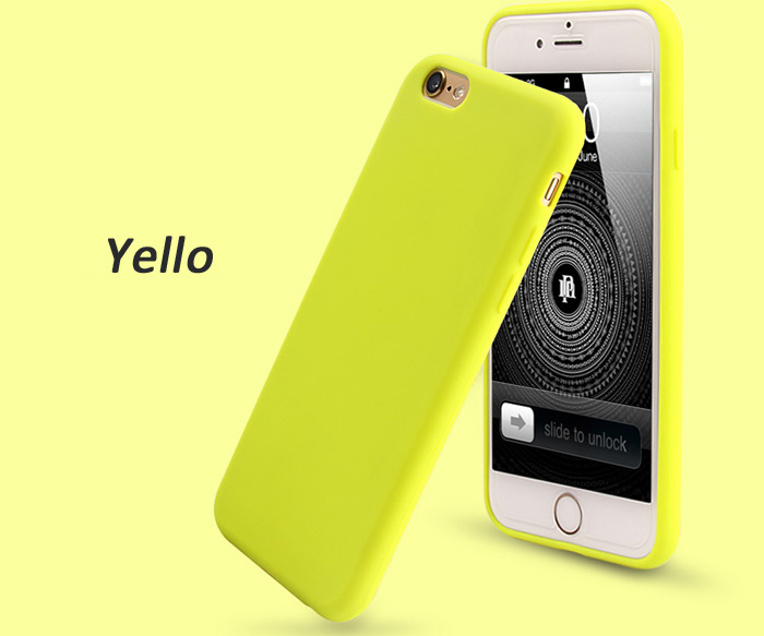 Moshuo Guoyan Series Silicone Phone Protective Case for iPhone 6 / 6S Solid Color Style Mobile Protector