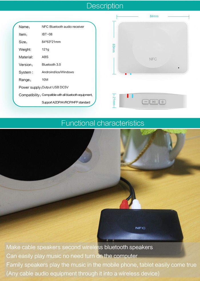 homespot nfc enabled bluetooth audio receiver for sound system manual