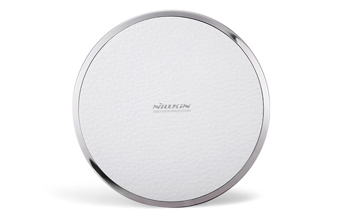 Nillkin Magic Disk Third Generation Qi Wireless Charger Transmitter Lichee Emboss PU Pad Round Design Launcher with Round Indicator Light