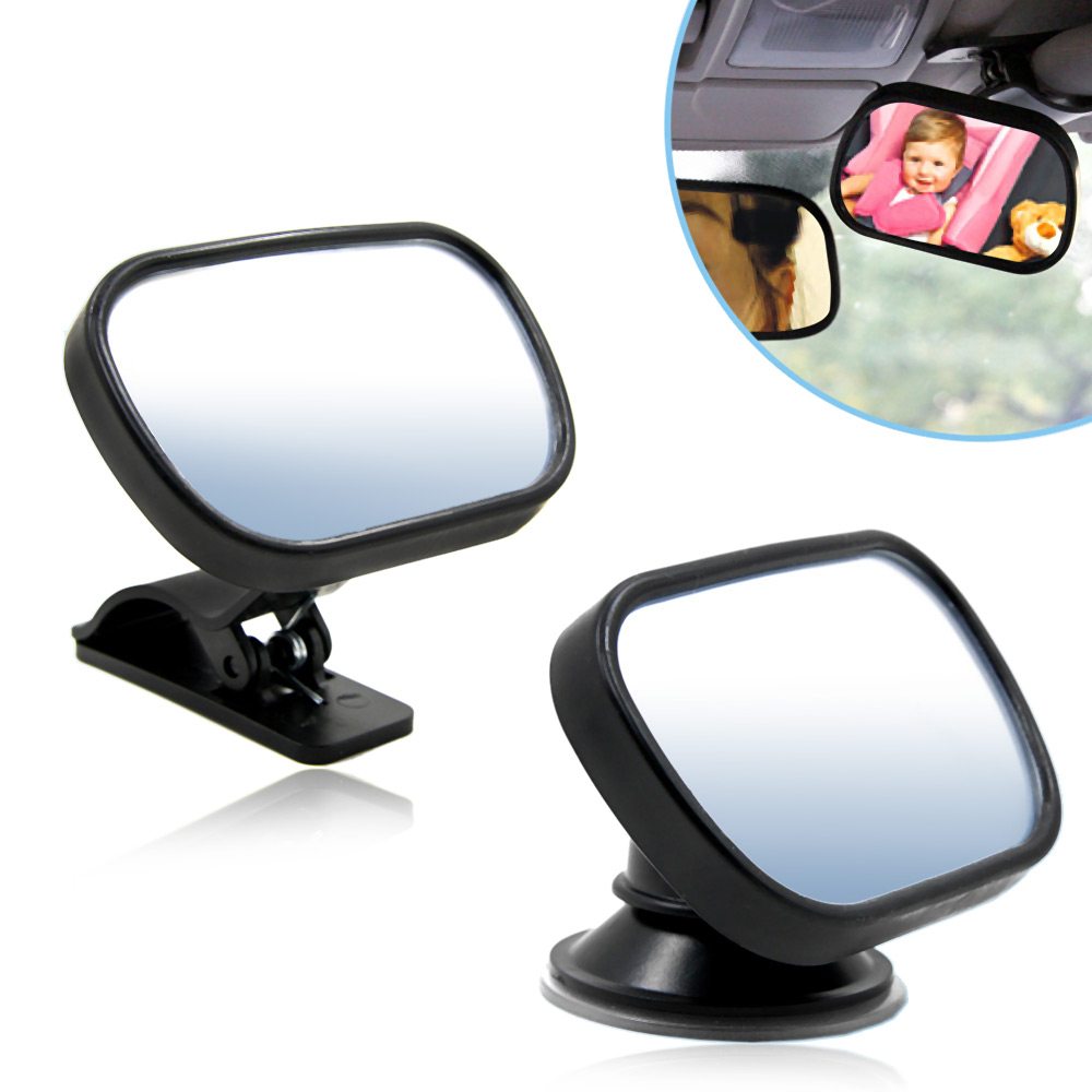 T22614 Rearview Baby Mirror Rear Facing Car Back Seat Mirrors Headrest Mount