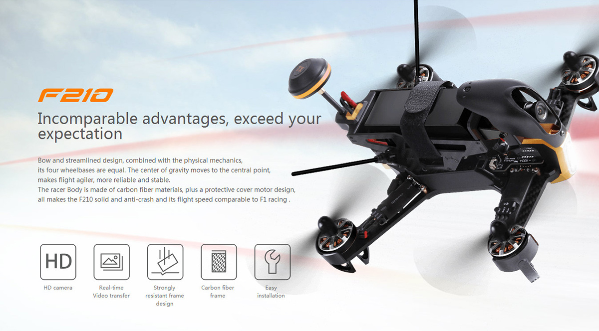 Walkera F210 700TVL HD Camera F3 Flight Controller Racing Drone BNF Version
