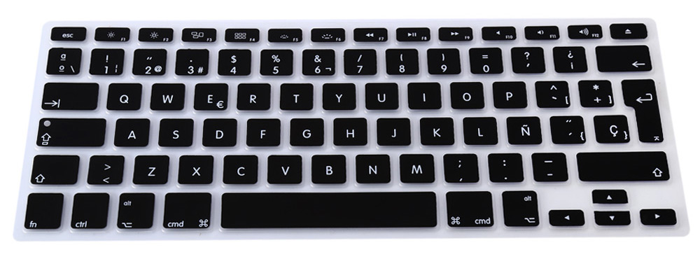 EU Version Spanish Keyboard Protective Film Skin for 13 inch MacBook