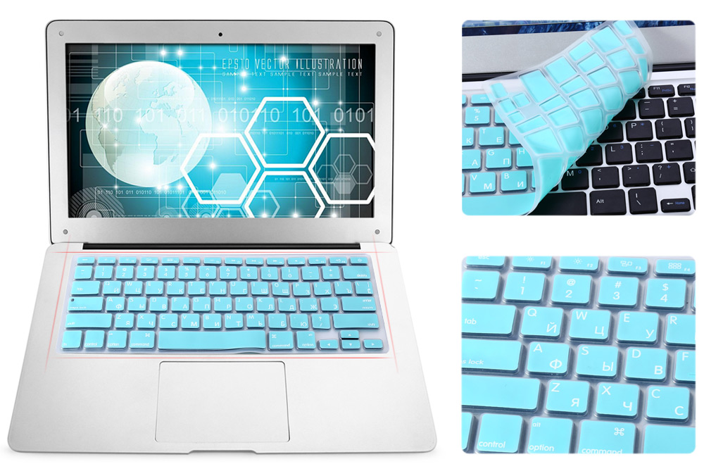 US Version Russian Keyboard Protective Film Skin for 13 inch MacBook