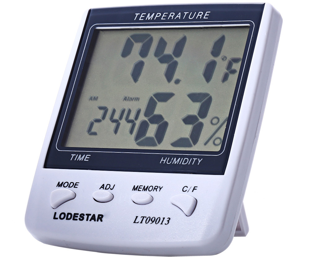 LODESTAR LT09013 Digital Thermometer / Hygrometer Test Temperature / Humidity with Dual Display