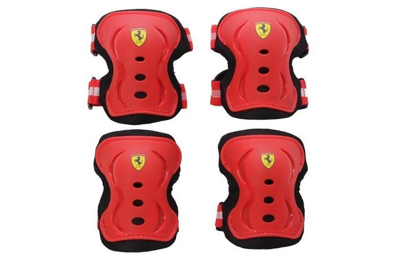 Ferrari FAP3 3 in 1 Sports Protector Set Knee Pad + Wrist Support + Elbow Guard