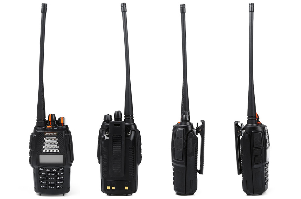 AnyTone AT-398UV Walkie Talkie with LCD Screen
