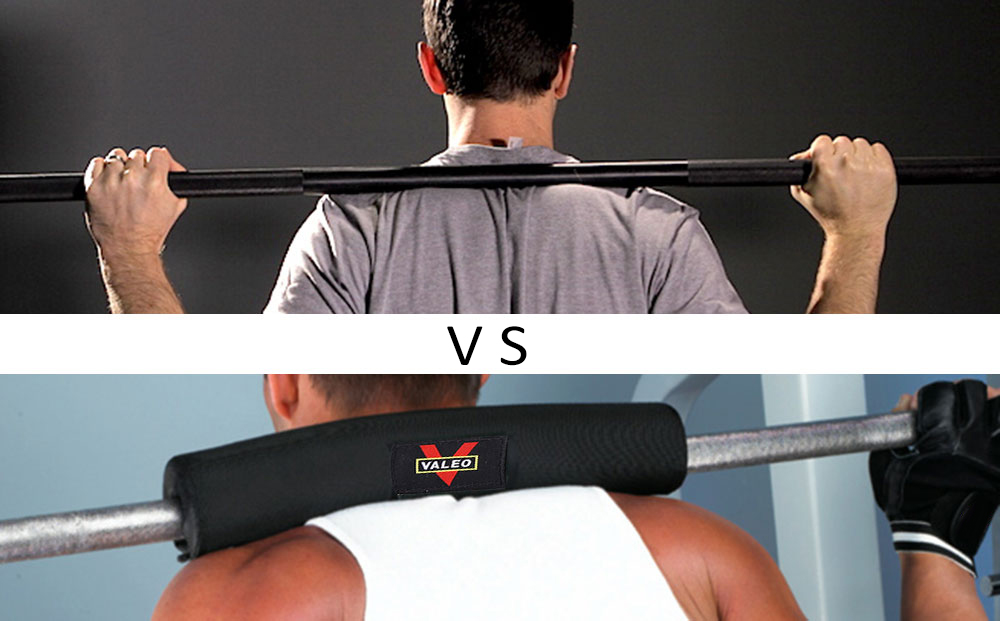 VALEO 16.9 Inch Long 3.1 Inch Diameter Barbell Squat Pad for Weight Lifting Neck Shoulder Protector