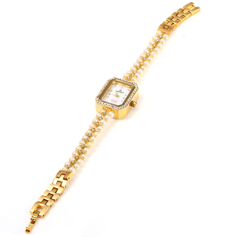 Kingsky 1195 Women Quartz Watch with Stainless Steel Band