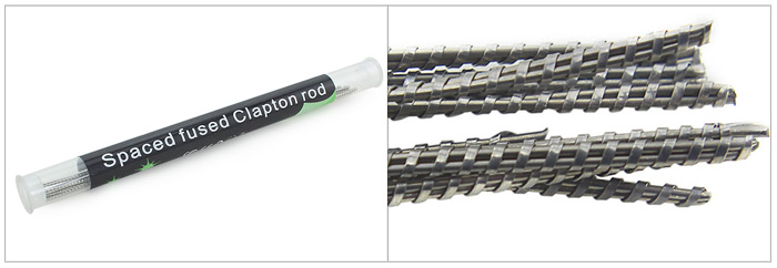 Original Focusecig Spaced Fused Clapton Rod with 10pcs Atomizer Resistance Wire Per Rod for E Cigarette