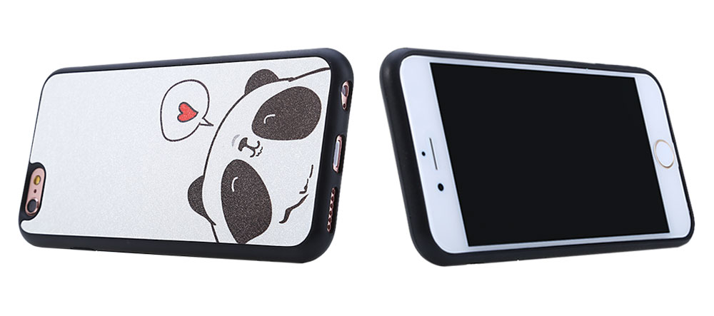Protective TPU Back Cover Case for iPhone 6 Plus / 6S Plus Stylish Cartoon Pattern Durable Anti-scratch Shockproof